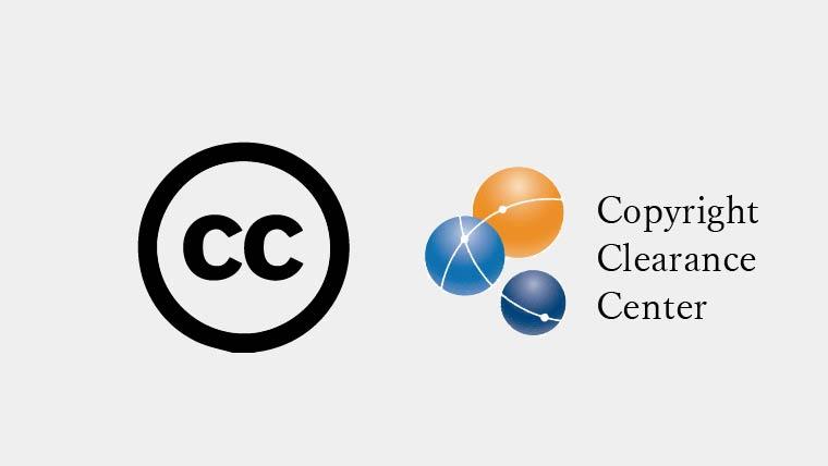 creative commonsとcopyright clearance centerのアイコン