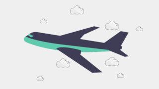 空を飛ぶ飛行機